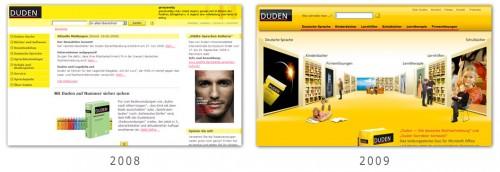 Design - Duden 2008 und 2009
