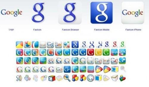 Google Favicon Familie 2008