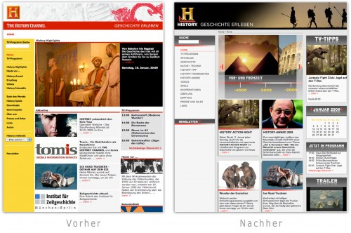 Neues History Design