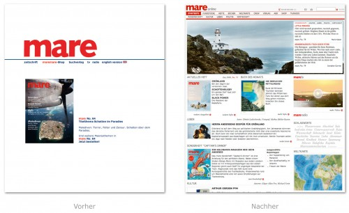 mare.de in neuem Design