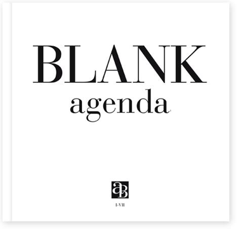 Blank agenda