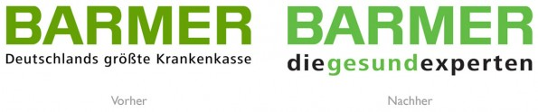 BARMER Logo Vergleich