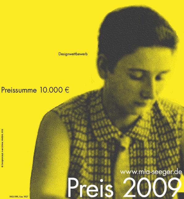 Design - Mia Seeger Preis 2009