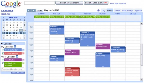 Design - Google Calendar