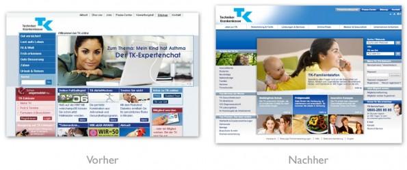 Design - tk-online vorher nachher