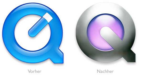 Design - QuickTime Logo Vorher/Nachher