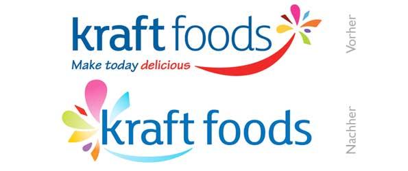 Design - Kraft Foods Vorher/Nachher