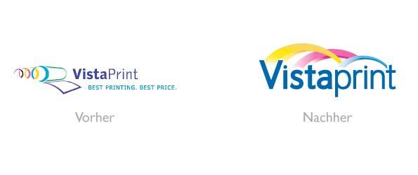 Design - VistaPrint Logo Vorher/Nachher