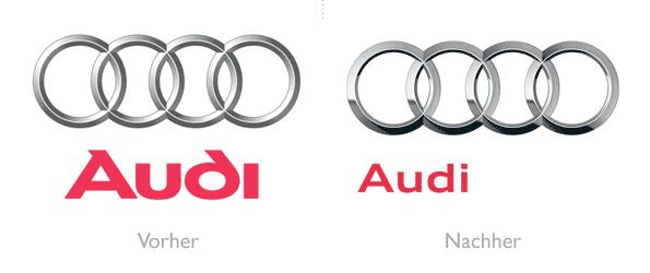 Design - Audi Logo Vorher/Nachher