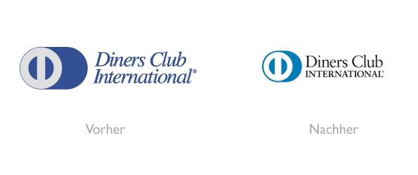 Design - Diners Club Logo Vorher/Nachher