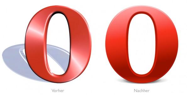 Design - Opera Logo Vorher Nachher klein