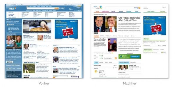 Design - msn redesign 2009