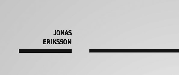 Design - Jonas Eriksson