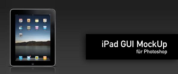 iPad GUI Photoshop für MockUp