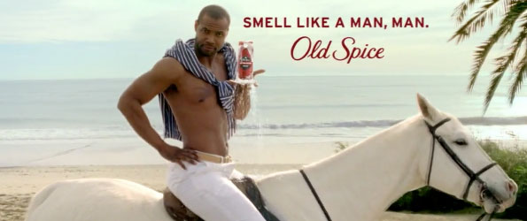 Old Spice on a horse