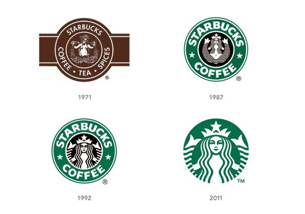 Starbucks Logos seit 1971