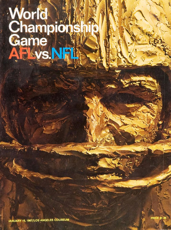 Plakat zum 1. Super Bowl 1967