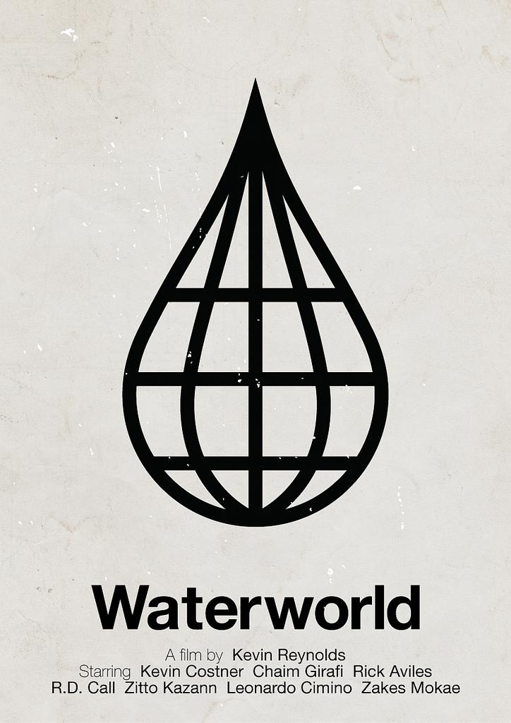 Filmplakat »Waterworld« von Viktor Hertz