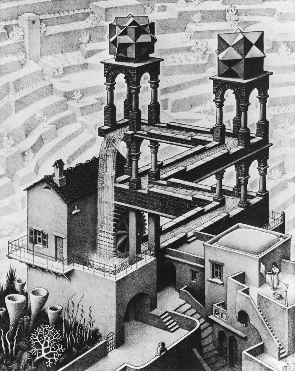 M.C. Escher Wasserfall (1961)