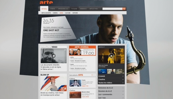 arte website - Serien