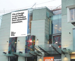 Kampagne in Graz zur Benennung der City of Design