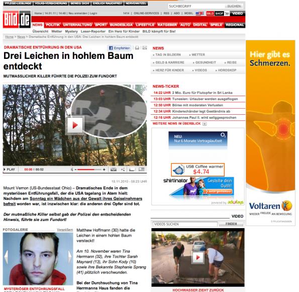 Bad Ad gefunden auf bild.de