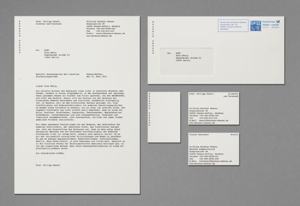 Neue Briefschaft der Stiftung Bauhaus Dessau