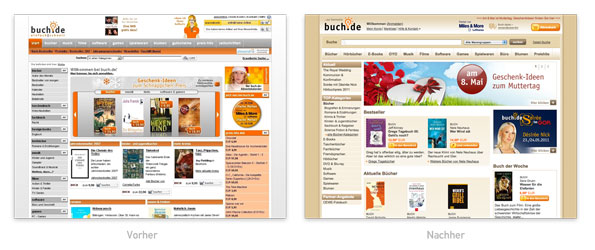 Design - Buch.de Redesign