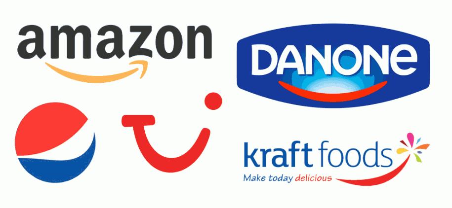 Lächelnde Logos