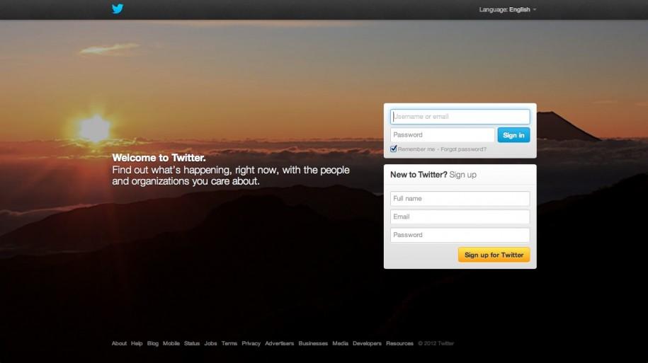 Design - Twitter Startscreen