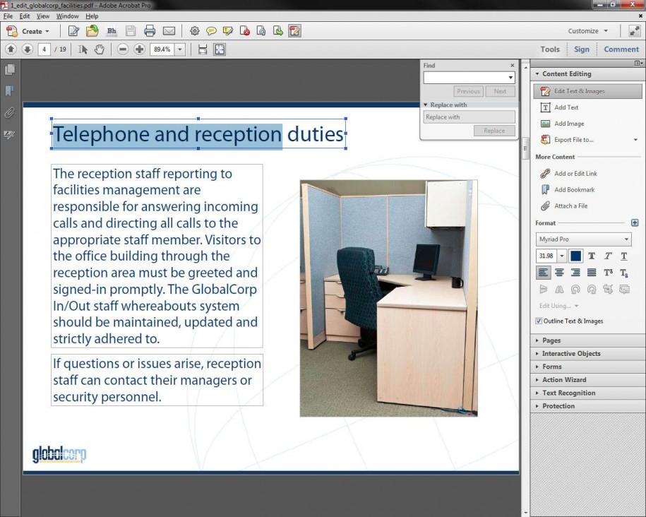 Adobe Acrobat XI - Content Editing