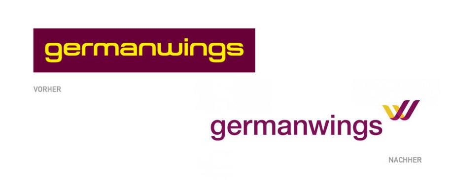 Germanwings Logo Vorher und Nachher