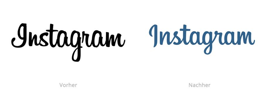 Instagram Logo vor und nach dem Redesign