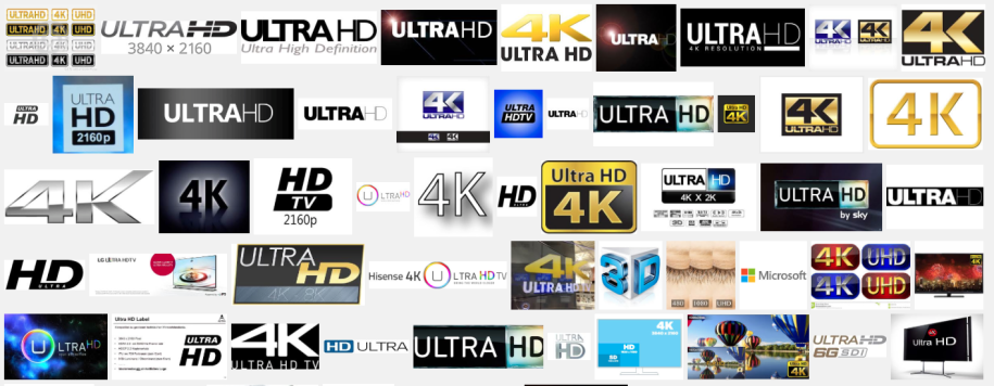 Differierende Ultra HD Logos
