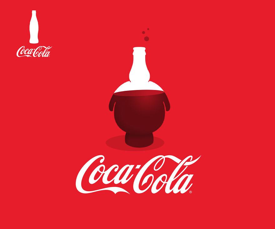 Coca Cola unschlanke Silhouette