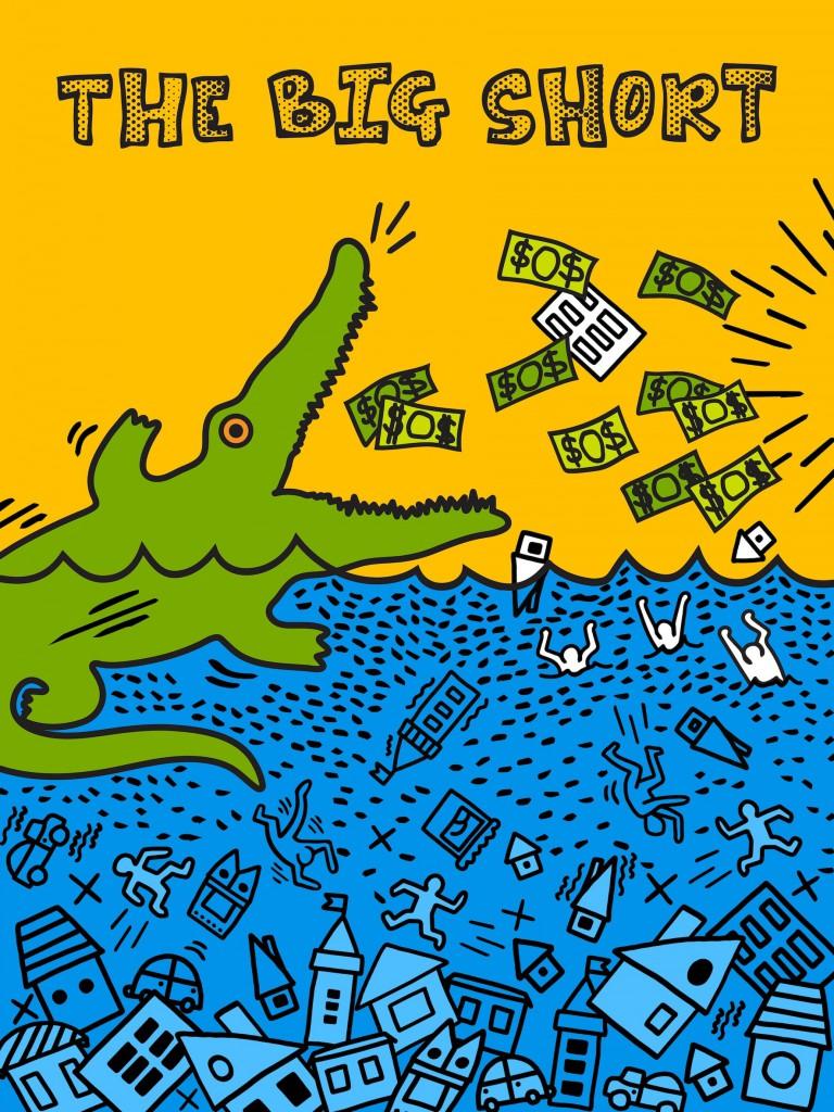 The Big Short (Inspiration: Keith Haring) von Flo Lau