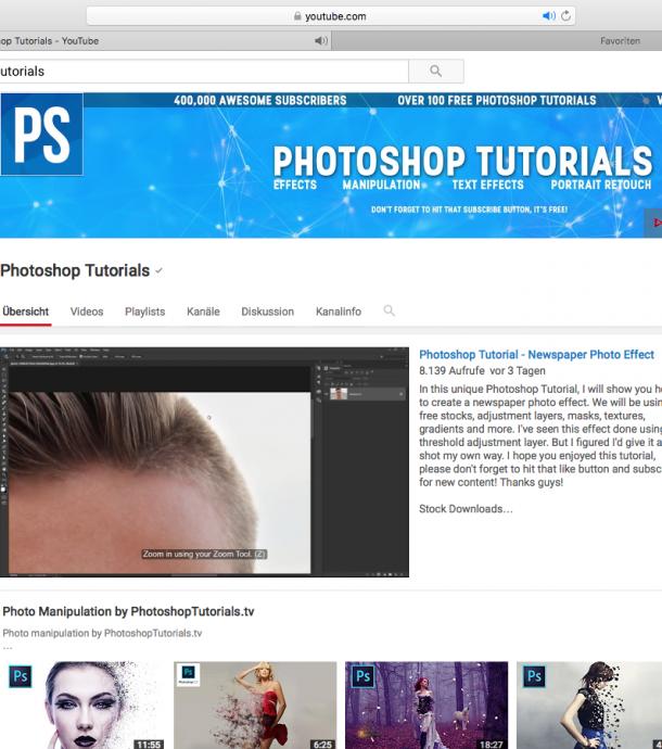 YouTube_Photoshop Tutorials