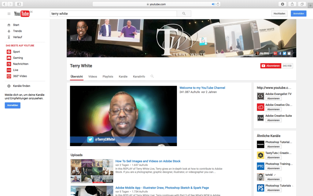 PSD Tutorials YouTube Terry White