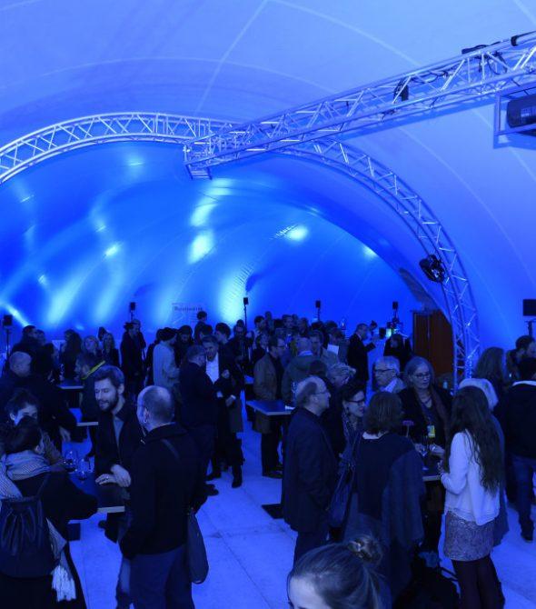 Raumwelten Pavillon Innen, Foto: Reiner Pfisterer / Film und Medienfestival gGmbH