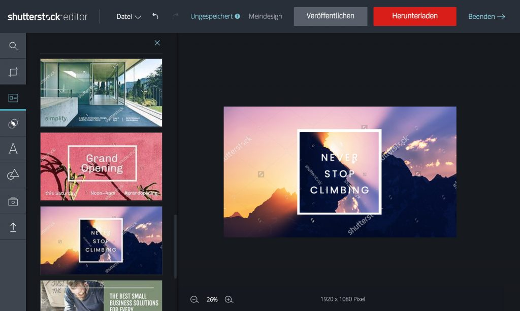 Shutterstock-Editor-Templates
