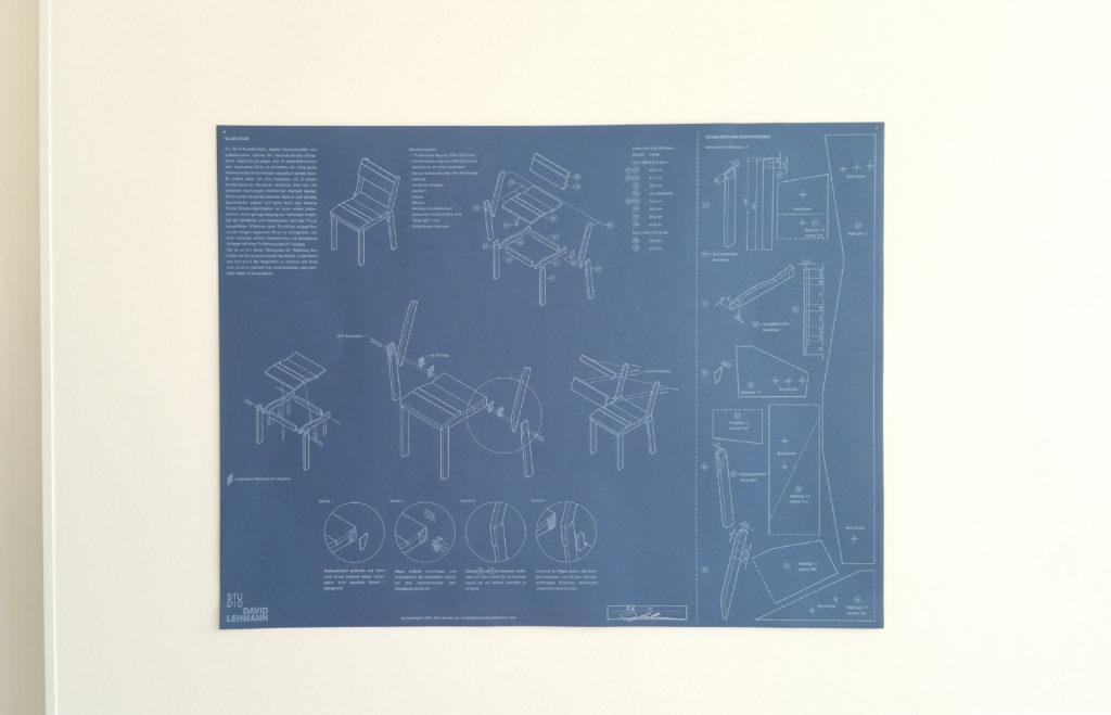 Bauplan Stuhl von David Lehmann