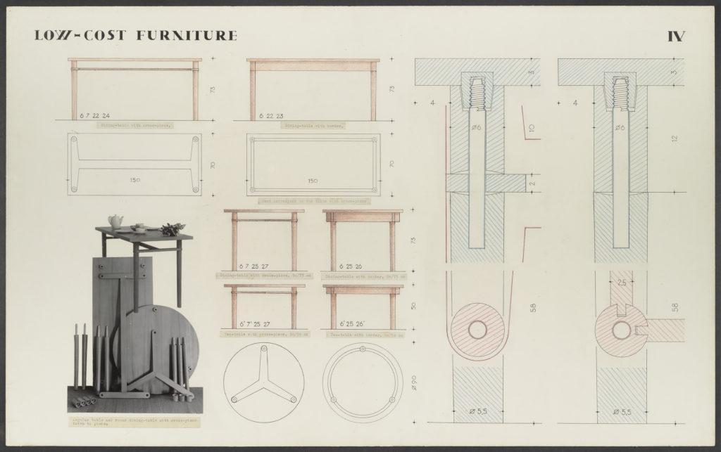 Präsentationskarton für kostengünstige Möbel