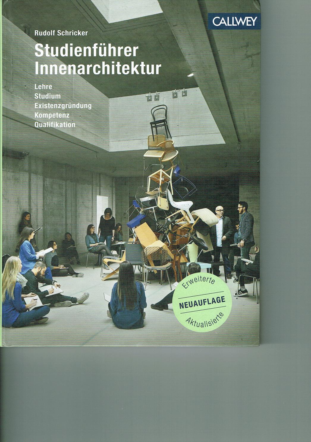 Innenarchitektur Literatur studienführer innenarchitektur designbote