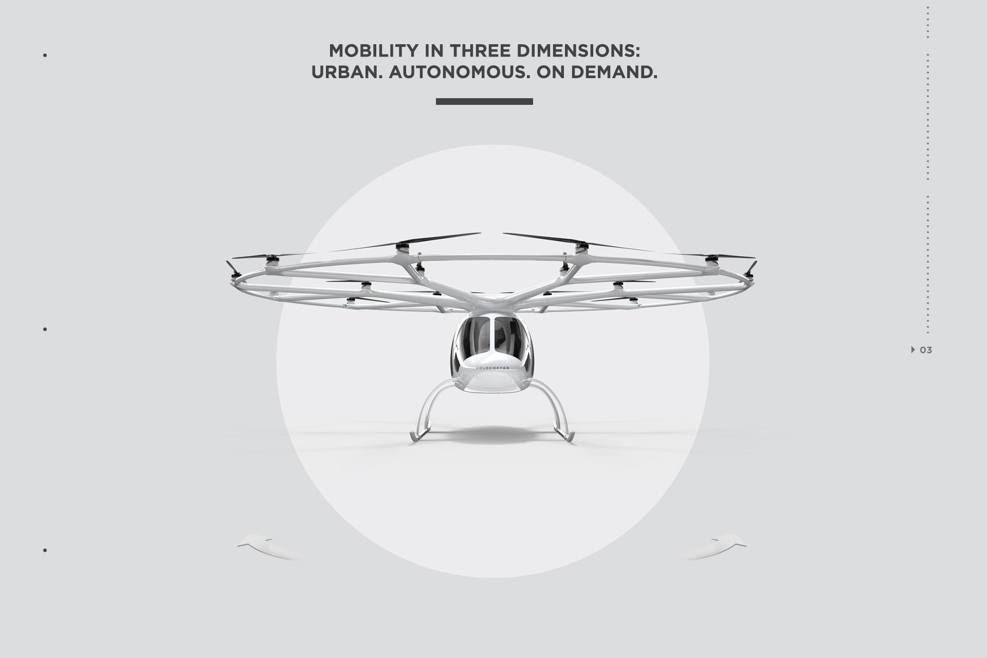 Volocopter Mobility in three dimensions