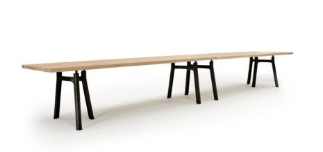 Arco Trestle Table XL Jorre van Ast cut out Salone del Mobile