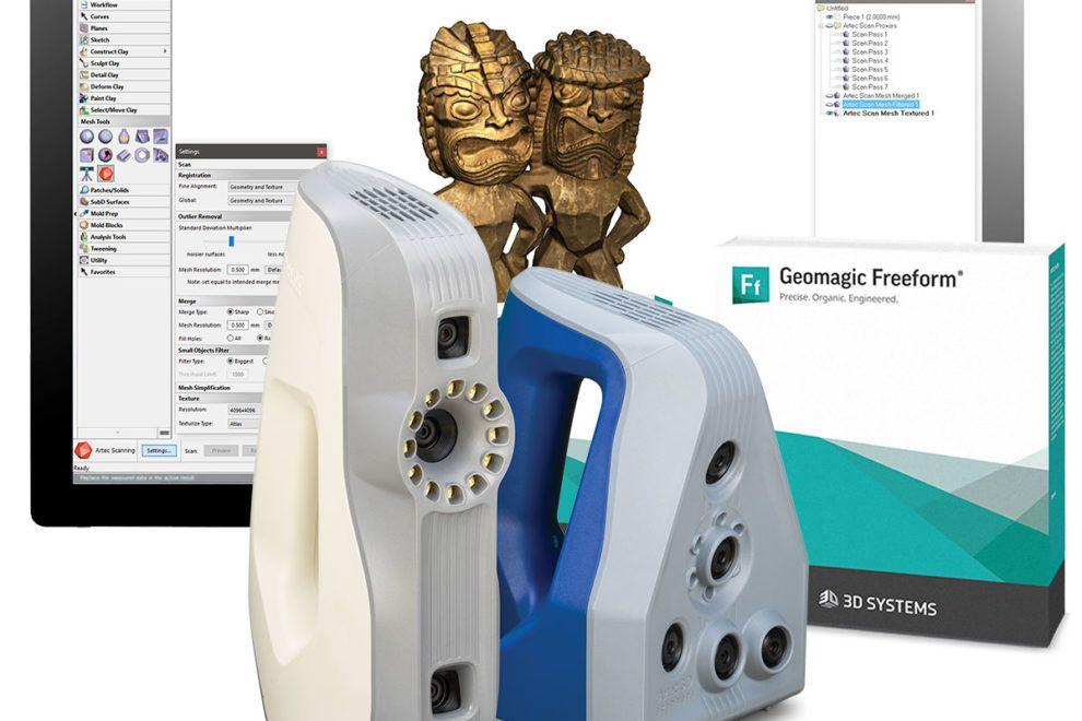 Design Software Von Artec 3d Handscanner Jetzt Mit