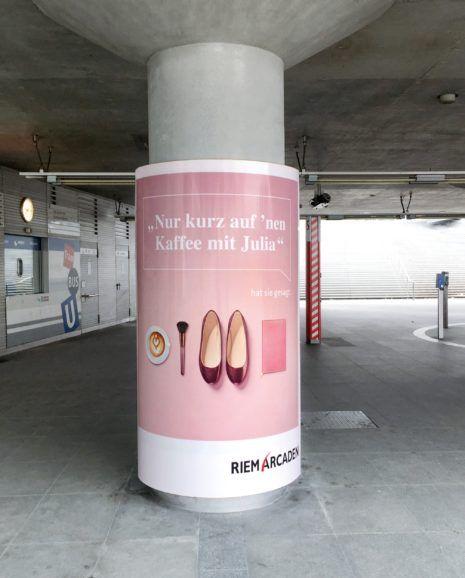 Motiv Saeule Ubahn BL Riem Arcaden