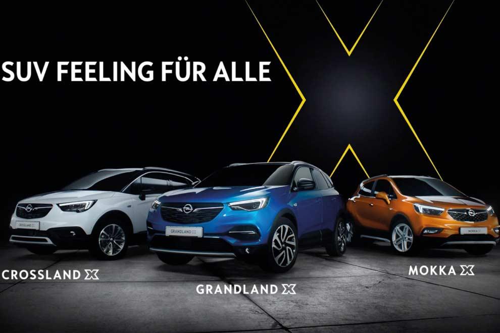 Für jeden das Beste: Mit den drei SUVs Crossland X, Grandland X und Mokka X zeigt Opel, was es bedeutet, innovative Technologien für alle zugänglich zu machen.