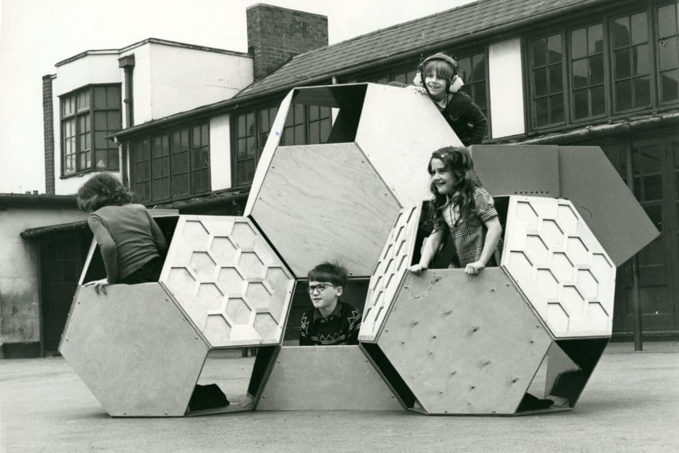 Victor J. Papanek, Tetrakaidecahedral movable playground tructure (1973-1975) © University of Applied Arts Vienna, Victor J. Papanek Foundation