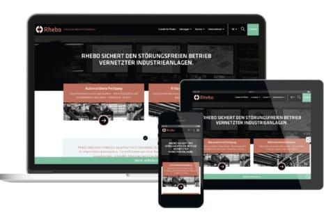 Rhebo Corporate Design Website Startseite Landing Page